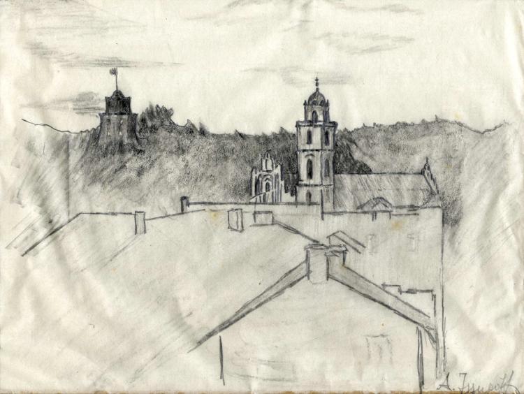 Alessio Issupov (1894 - 1957), Lotto composto di due disegni.