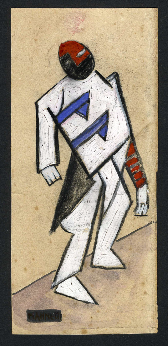 Vieri Nannetti (1895 - 1957), Omino futurista. 1917-1919 ca.