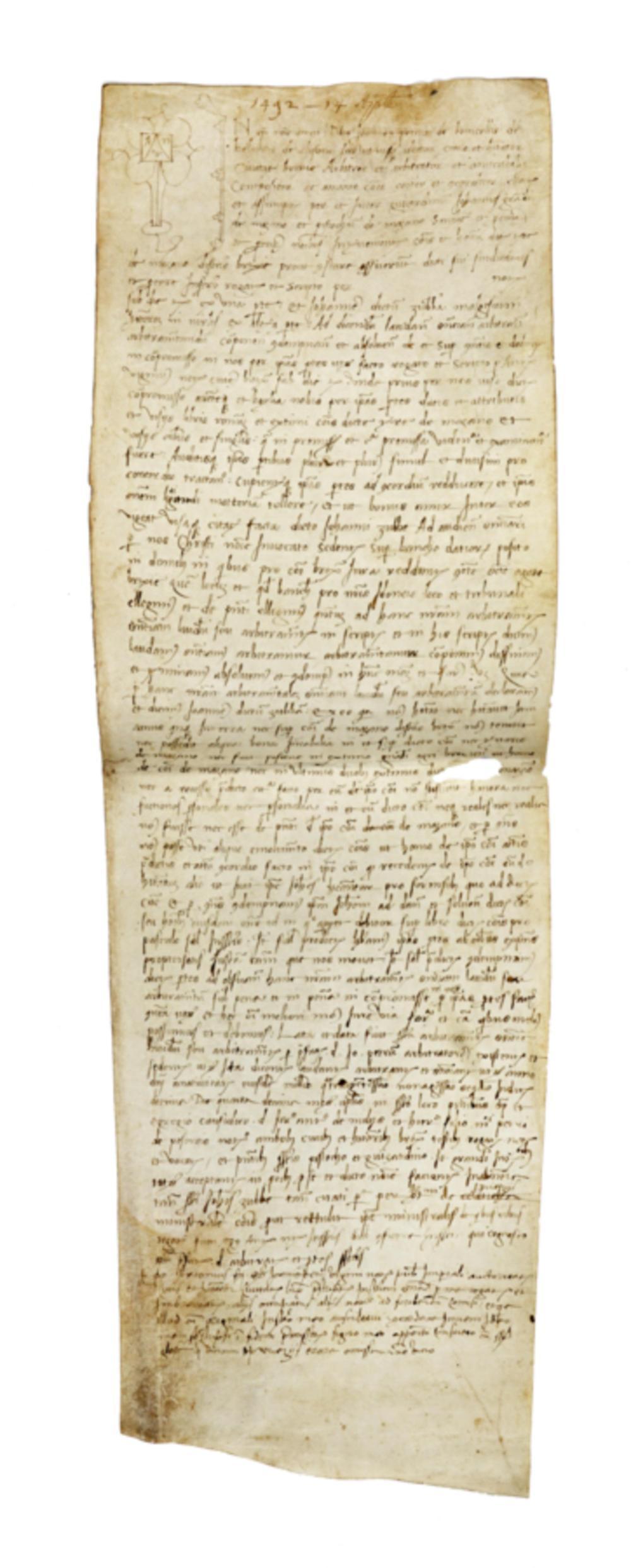 Raccolta di 6 pergamene, zona Brescia e dintorni. Datate XV-XVI secolo.