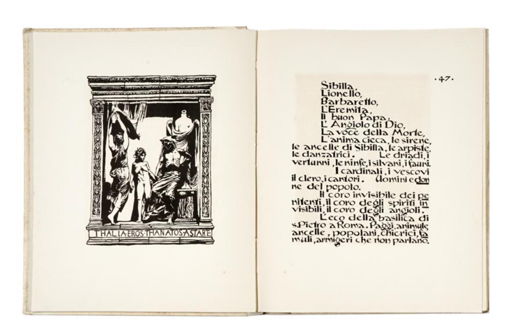 Sartorio Giulio Aristide, Sibilla. Poema drammatico in quattro atti. Milano: l'Eroica, [1922].