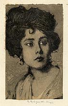 Giuseppe Miti Zanetti, Ritratto femminile.