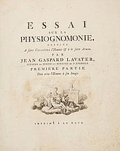 Lavater Johann Caspar, Essai sur la physiognomonie...Première partie (-quatrieme). Imprimé à la Haye: [Jacobus van Karnebeek], [1781]-1803.