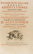 Bellori Giovanni Pietro Romani adnotationes nunc primum evulgatae in XII priorum Caesarum numismata ab Aenea Vico Parmensi... Romae: typis Antonii de Rubeis [...] impensis Fausti Amidei Bibliopolae 1730.