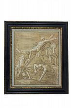 Alessandro Tiarini (1577 - 1668), Cristo innalzato sulla croce.