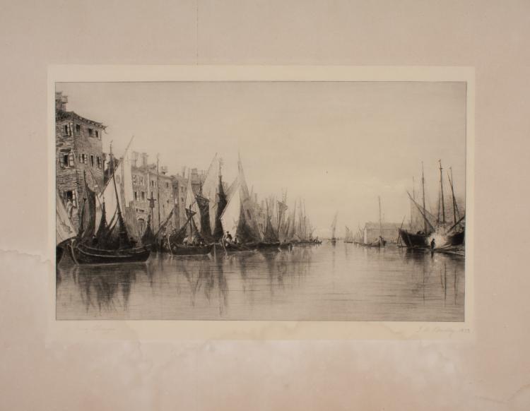 John Henry Bradley (1832 - 1888 ca. ), The Quay Chioggia. 1873