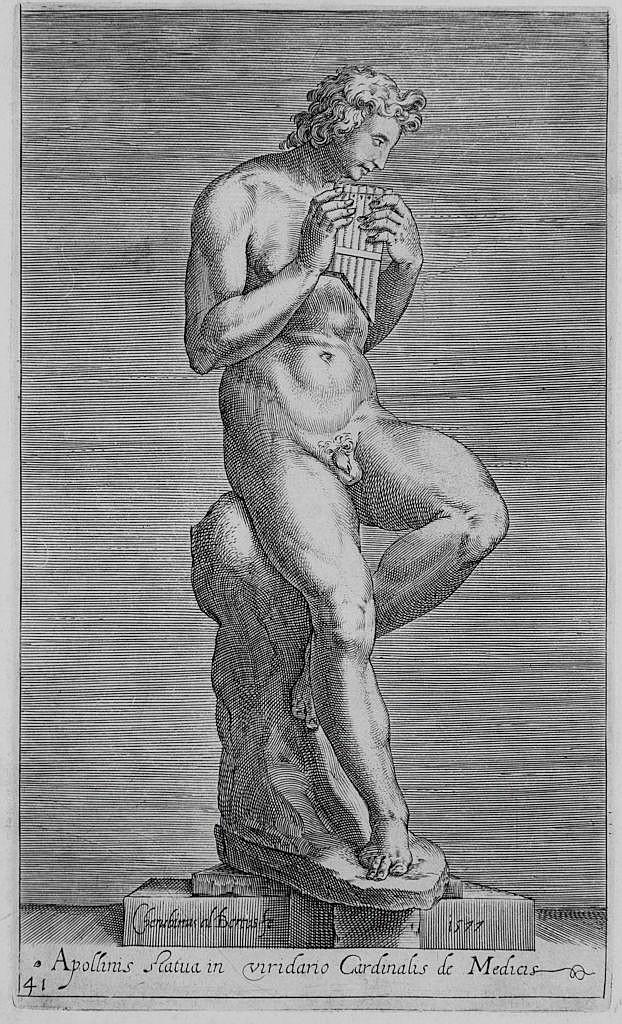Alberti Cherubino - Tre incisioni di sculture romane