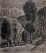 Ubaldo Oppi, Paesaggio.