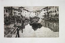 Giuseppe Miti Zanetti, Canale della Pescheria a Chioggia. 1889