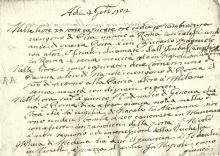 Raccolta di circa 757 carte contenenti avvisi della città di Siena. Datati 1702-1705.