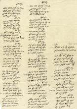 Raccolta di 18 carte in ebraico. XIX secolo.