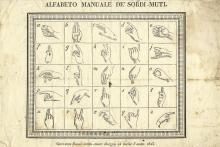Alfabeto Manuale de' Sordi-Muti. Giovanni Bossi 1825.
