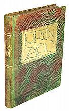 De Musset Alfred, Lorenzaccio. Drame en cinq actes [...]. Hors-texte en couleurs de Barte. Paris: René Kieffer, [1926].