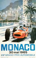 Michael Turner, Lotto composto di 3 manifesti per il Gran Premio di Monaco. 1965-67.
