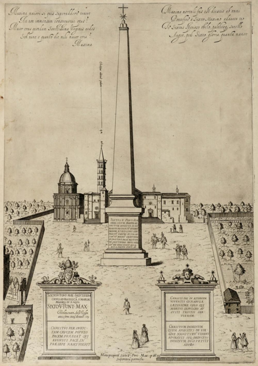 Anonimo del XVI secolo, Sixtus V Pont. Max. Obeliscum Aegypto ad vectum Augusto in eius mausoleo...