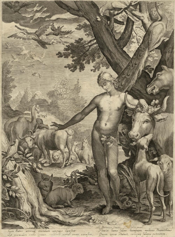 Abraham Bloemaert [da], Tre tavole da La storia di Adamo ed Eva. Post 1604.