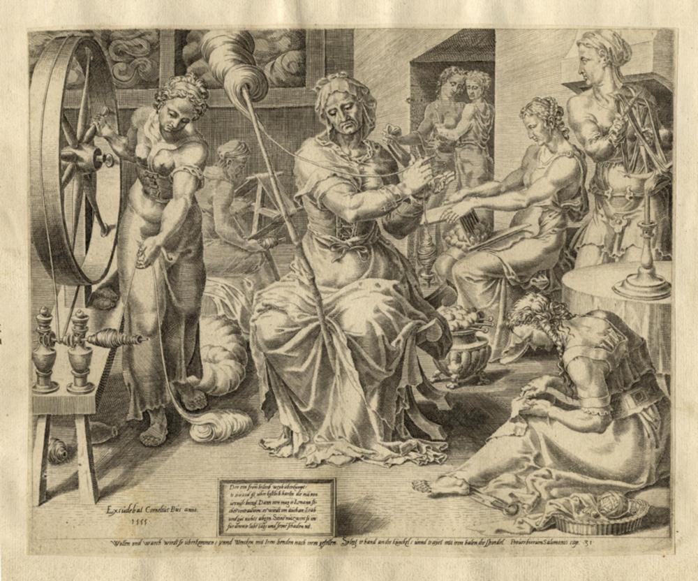 Dirk Volkertsz Coornhert, Elogio della moglie virtuosa. Da Maarten van Heemskerck. 1555.