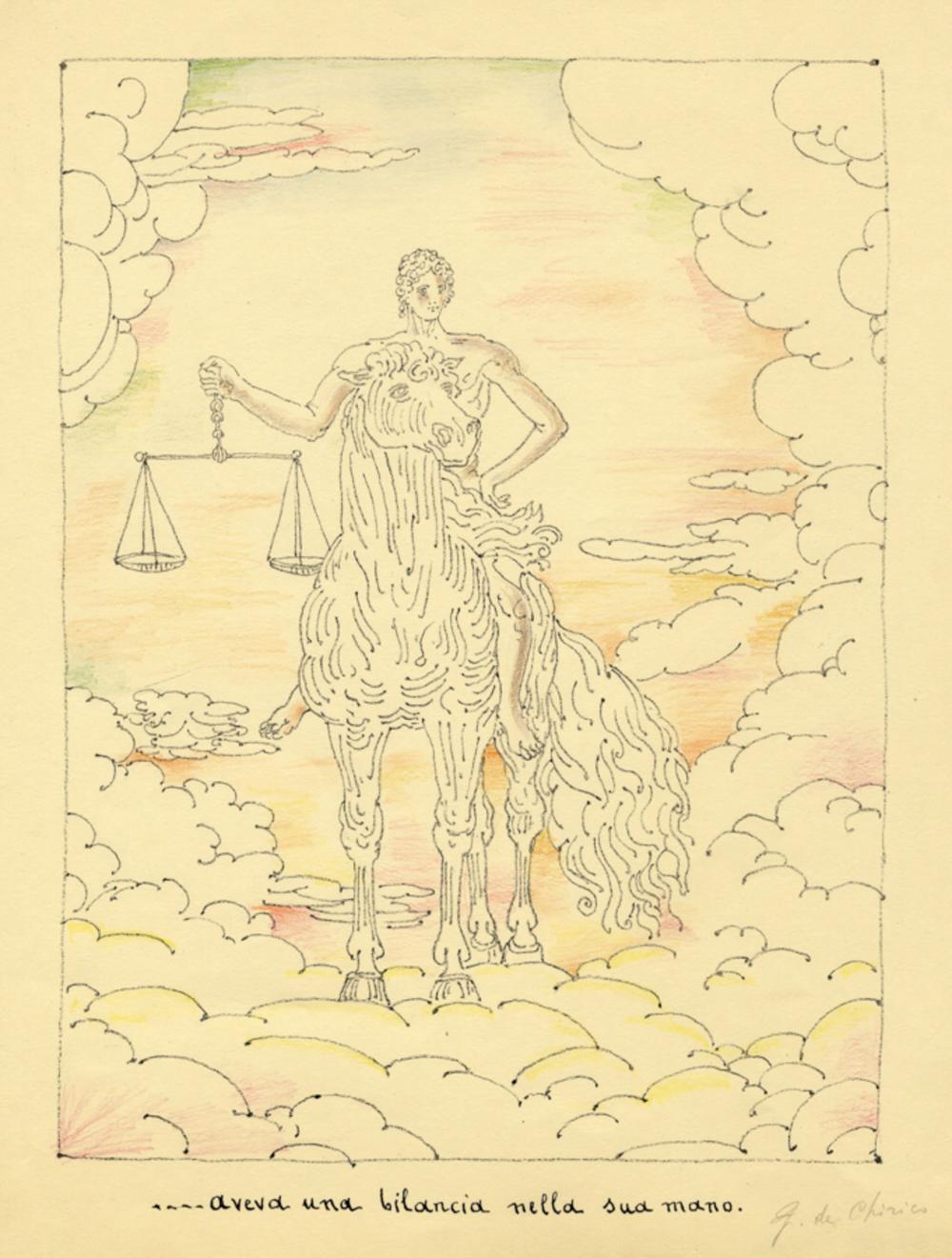 Giorgio De Chirico, Lotto composto di 2 incisioni dall'Apocalisse.