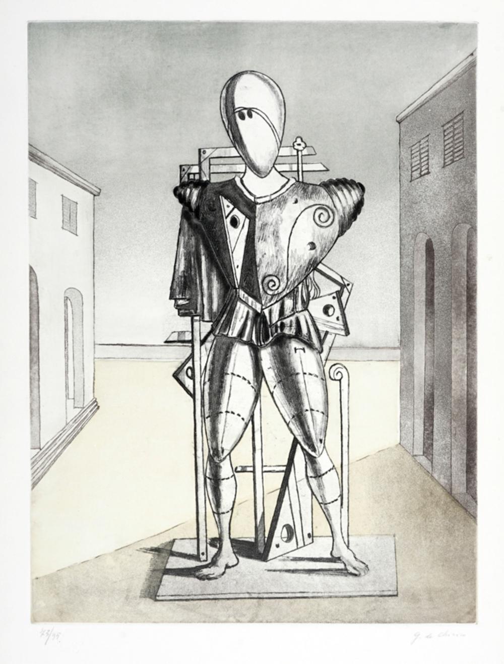 Giorgio De Chirico, Il Trovatore nella piazza.