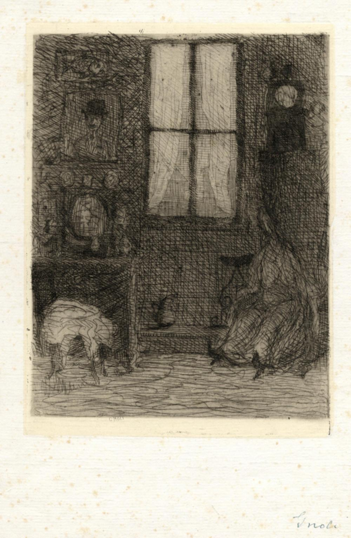 Domenico Gnoli, Interno.