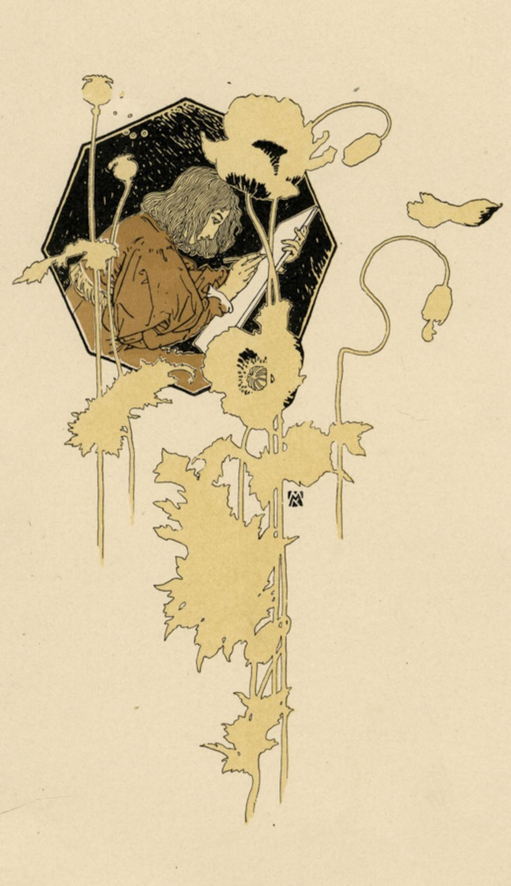 Koloman Moser, Allegorie der Mal-und Zeichenkunst. 1900 circa.