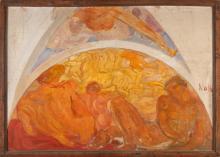Emilio Notte, Studio allegorico per decorazione. 1908 circa.