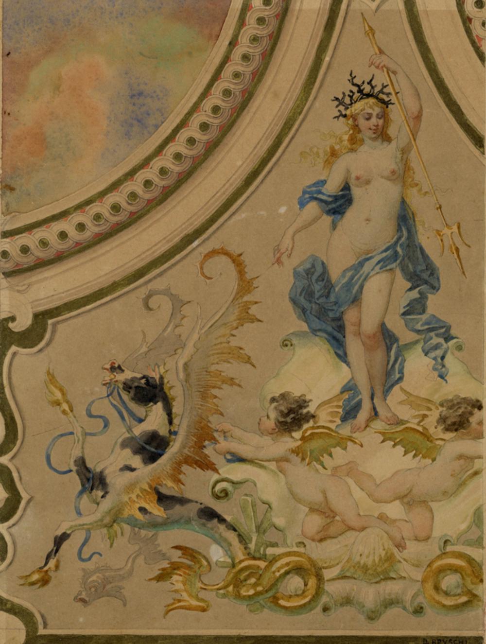 Domenico Bruschi, Studio per decorazione.