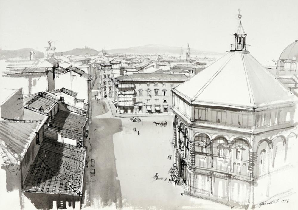 Alfredo Cifariello, Lotto composto di 2 acquerelli. 1971-1974.