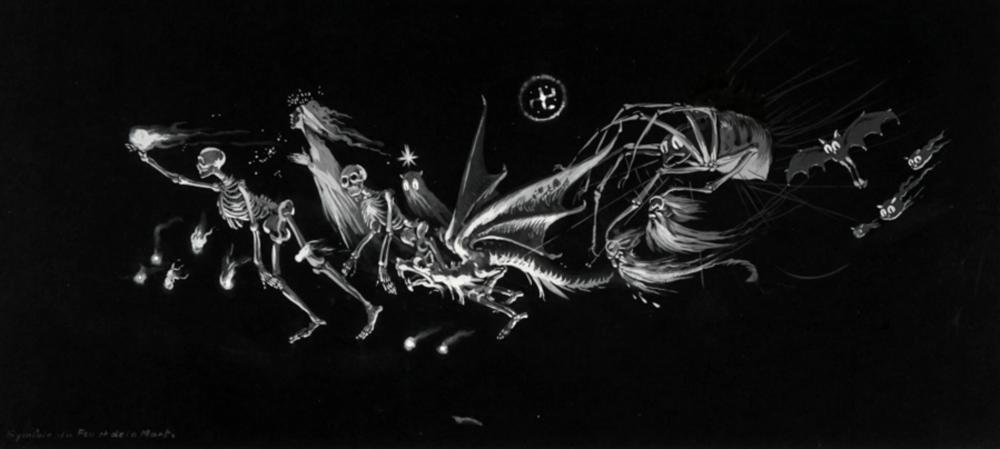 Eugéne Frey, Symbole du Feu et de la Mort.