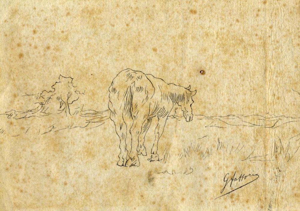 Giovanni Fattori, Cavallino in un paesaggio. Seconda metà del XIX secolo.