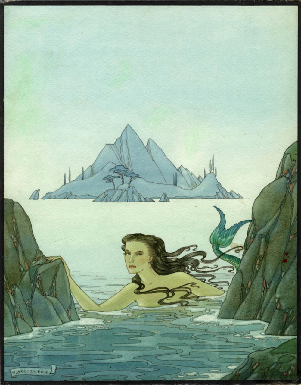 Ninon Victor Max [pseud. di Accornero Testa Vittorio], La sirena. Anni '30 del XX secolo.