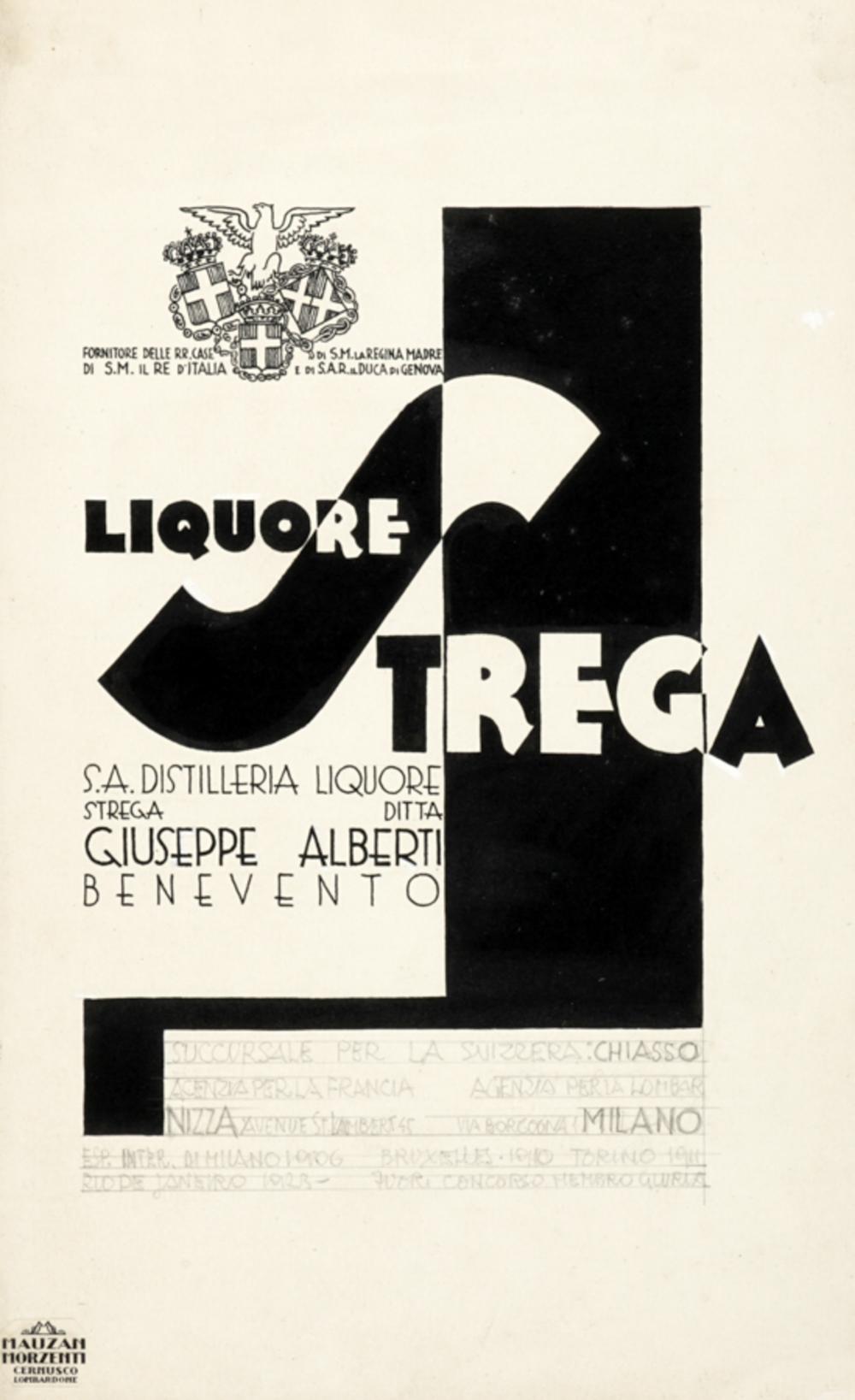 Erberto Carboni, Il liquore italianissimo Strega.