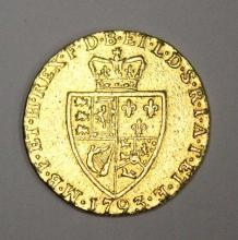 1793 GUINEA BRITISH GOLD COIN GEORGE III ORIGINAL SPADE GUINEA