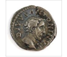 Ancient Rome 191 A.D. Divus Antoninus Pius Silver Denarius