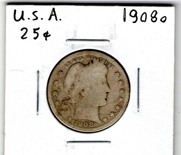1908 O 25 Cent