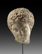 Polykleitan marble head of a youth