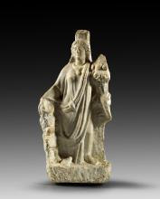 Marble figurine of standing Cybele