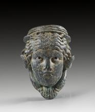 Bronze applique in form of a water goddess