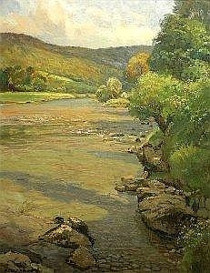 Donald Floyd (1892-1965) oil on canvas, The Wye Valley, signed, 36 x 28 ins. See Illustration
