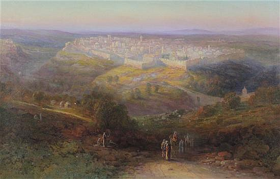 Samuel Lawson Booth (1836-1928) View of Jerusalem, 16 x 24in.