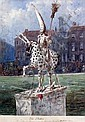 Ernest Henri Griset (French 1844-1907) 'The Statue in Leicester Square..', 15.5 x 12.25in., Ernest Henry Griset, Click for value