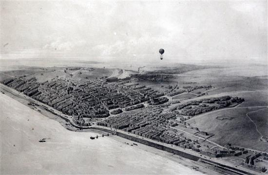 Jules Arnout Brighton. A View taken in balloon 13.25 x 18.5in.