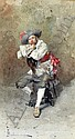 Paolo Bedini (1844-1924) Italian Seated cavalier 10 x 6in., Giovanni Bedini, Click for value