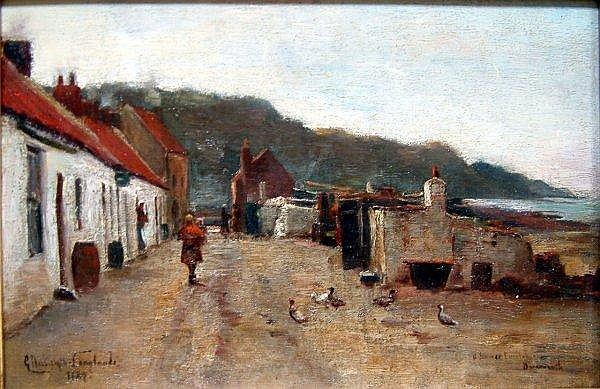 George Nasmyth Langlands (?-1940) A Summer Evening, Barmouth, 8 x 12 ins.