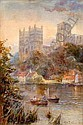 Charles Frederick Allbon (1856-1921) Durham, 9.5 x 6.5 ins., Charles Frederick Allbon, Click for value