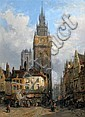 Lewis John Wood (1813-1901) 'The Old Beffroi at Ghent', 15.5 x 11.5in., Lewis John Wood, Click for value