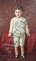 Raja Ravi Varma (Indian, 1848-1906) Full length portrait of a boy, 48 x 30in., Ravi Varma, Click for value