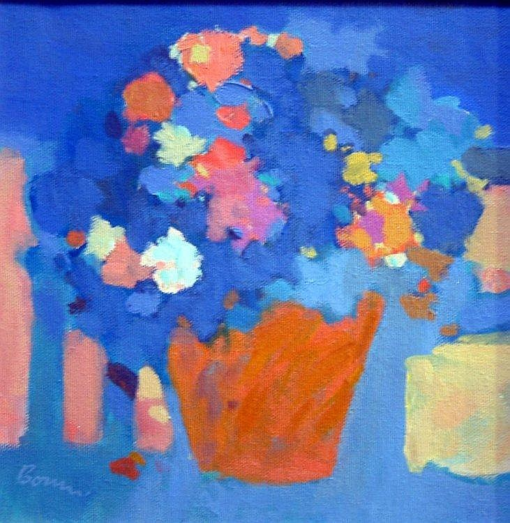 Peter Bourne (1931-) 'Terracotta Flower Pot' 8.5 x 8.5in.