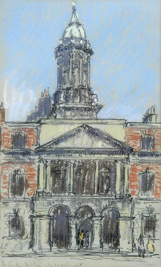 Lord Methuen (1886-1974) Dublin Castle 9 x 5.5in.
