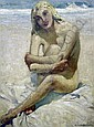 Arnold Victor Beauvais (1886-1982) Nude on the seashore 19 x 15in., Arnold Victor Beauvais, Click for value