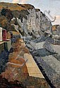 †Kenneth Rowntree (1915-1997) Promenade and sea cliffs, 25 x 17in., Kenneth Rowntree, Click for value